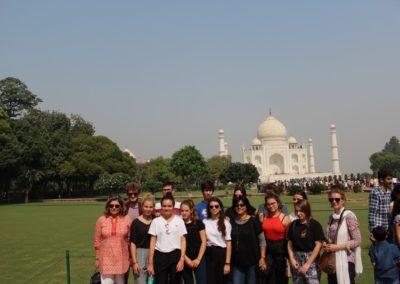 GROUPE TAJ MAHAL Broceliande Lycee voyage echange Inde 5