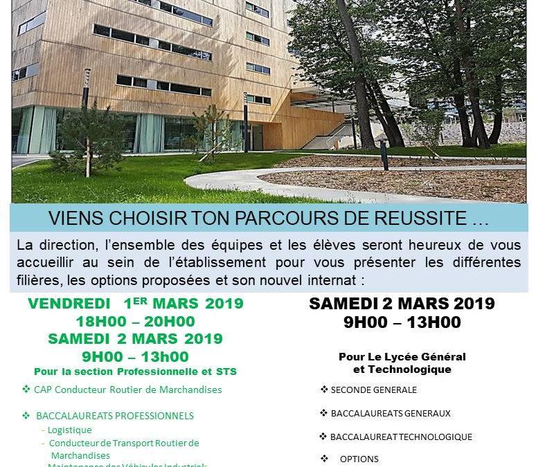 Portes-Ouvertes les 1er et 2 mars 2019 : venez nous rencontrer !