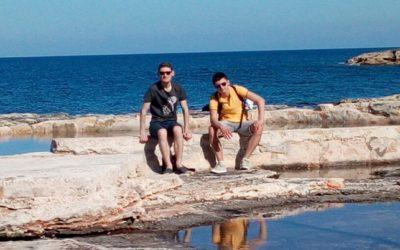 Deux élèves du lycée pro à Malte