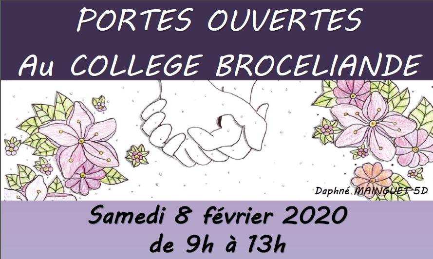 Portes Ouvertes au Collège Brocéliande le 8 février 2020