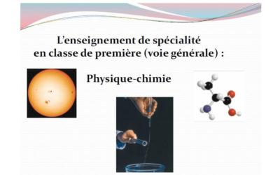 Présentation spé Physique -Chimie