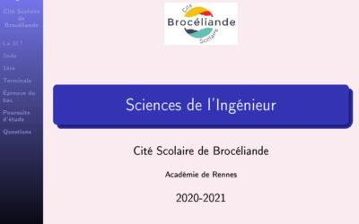 Présentation Sciences de l'Ingénieur