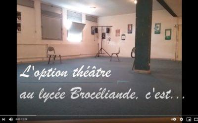 L'option théâtre au lycée Brocéliande