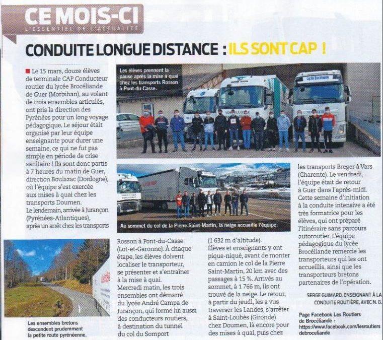 Les routiers de Brocéliande à l'honneur dans France Routes