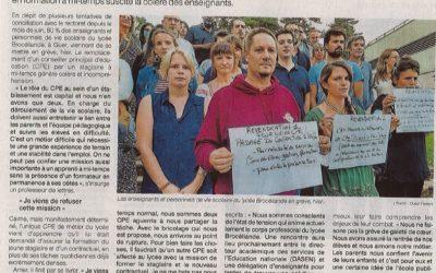 Les enseignants du lycée de Brocéliande en grève !