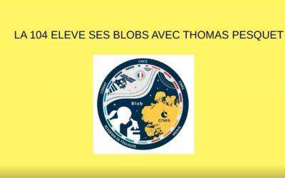 Les lycéens de Brocéliande élèvent des blobs avec Thomas Pesquet.